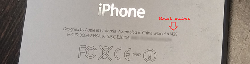 Apple model numbers for compatibility
