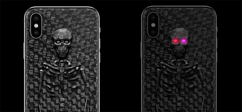 iPhone X bony glowing eyes