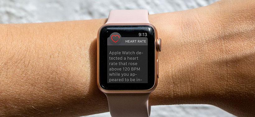 Apple Watch heart rate warning