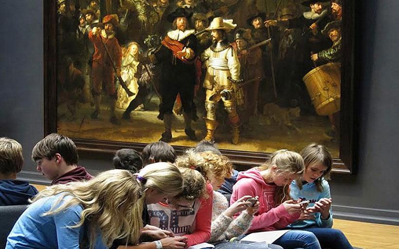 Kids ignore Rembrandt
