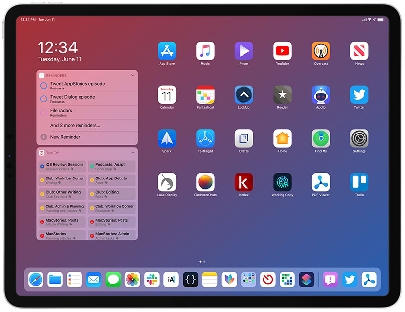 iOS 13 on iPad iPad OS