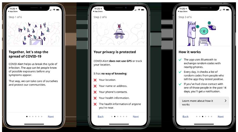 COVID Alert app setup